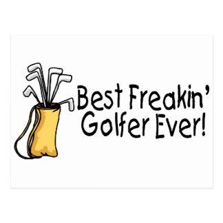 Best Freakin Golfer Ever 2 Postcard