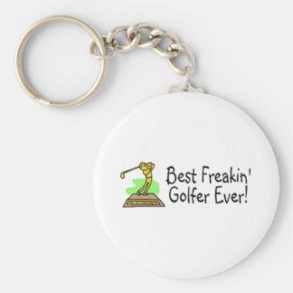Best Freakin Golfer Ever 3 Keychain