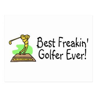 Best Freakin Golfer Ever Postcard