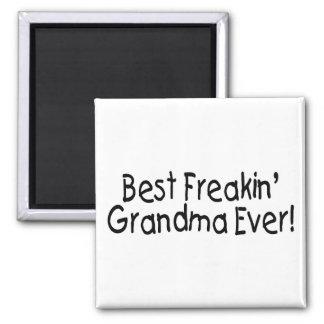 Best Freakin Grandma Ever 2 Inch Square Magnet