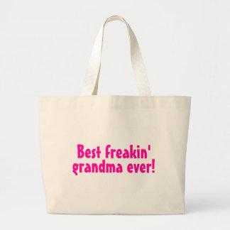 Best Freakin Grandma Ever (Pink) Canvas Bags