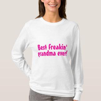 Best Freakin Grandma Ever (Pink) T-Shirt