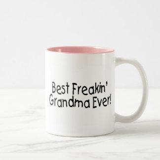 Best Freakin Grandma Ever Two-Tone Coffee Mug