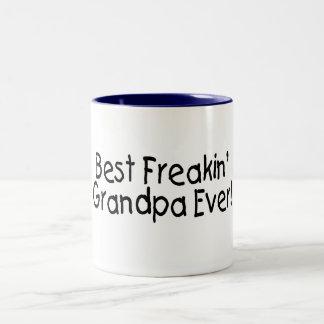 Best Freakin Grandpa Ever 2 Two-Tone Coffee Mug