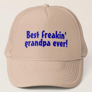 Best Freakin Grandpa Ever (Blue) Trucker Hat