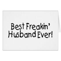 Best Freakin Husband Ever Card
