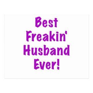 Best Freakin Husband Ever Postcard