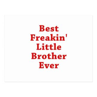 Best Freakin Little Brother Ever Postcard