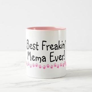 Best Freakin Mema Ever Two-Tone Coffee Mug