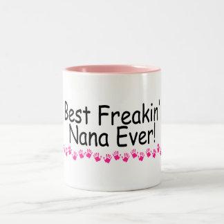 Best Freakin Nana Ever Two-Tone Coffee Mug