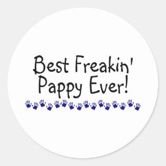 Best Freakin Pappy Ever Round Stickers
