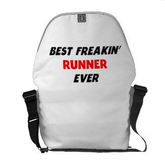 Best Freakin' Runner Ever Messenger Bags