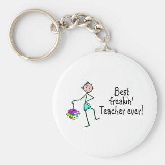 Best Freakin Teach Ever Basic Round Button Keychain