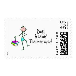 Best Freakin Teacher Ever Postage Stamps