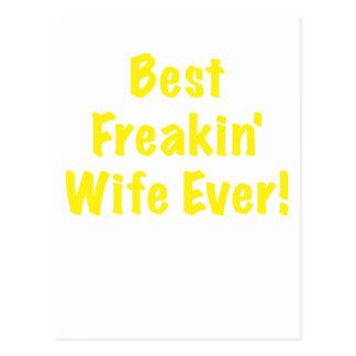 Best Freakin Wife Ever Postcard
