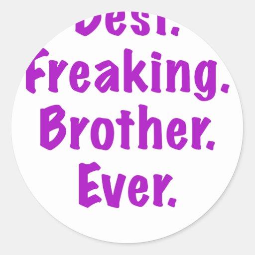 Best Freaking Brother Ever Round Sticker
