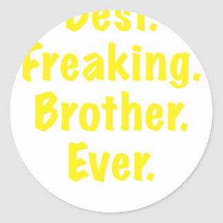 Best Freaking Brother Ever Classic Round Sticker