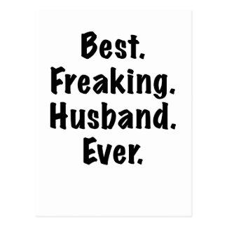 Best Freaking Husband Ever Postcard
