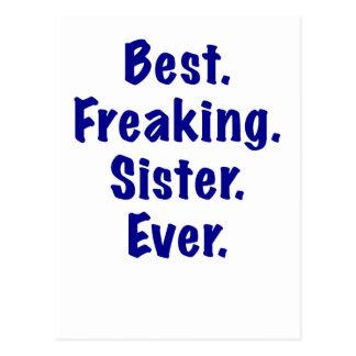 Best Freaking Sister Ever Postcard