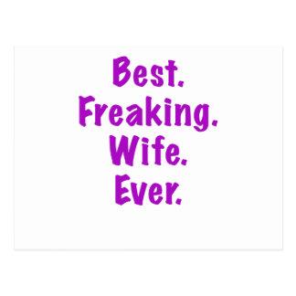 Best Freaking Wife Ever Postcard