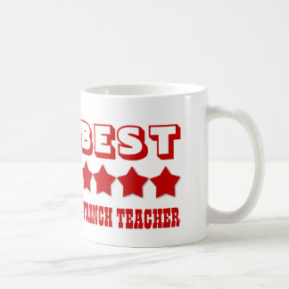 Best FRENCH TEACHER with Stars V03A RED Coffee Mug