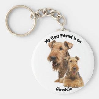 Best Friend Airedale Keychain