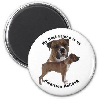 Best Friend American Bulldog Magnet