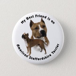Best Friend American Staffordshire Terrier Button