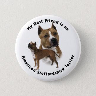 Best Friend American Staffordshire Terrier Pinback Button