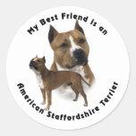 Best Friend American Staffordshire Terrier Stickers