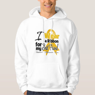 Best Friend - Appendix Cancer Ribbon Hooded Pullover
