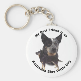 Best Friend Australian Blue cattle Dog Keychain