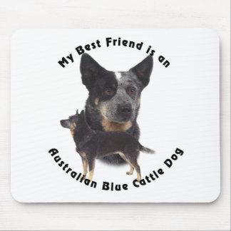 Best Friend Australian Blue cattle Dog Mouse Pad