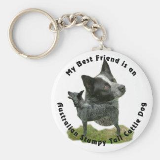 Best Friend Australian Stumpy Tail Key Chain