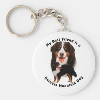 Best Friend Bernese Mountain Dog Keychain
