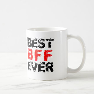 Best Friend BFF Ever Black and Red Grunge A10 Coffee Mug
