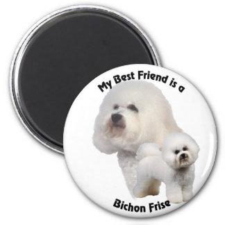 Best Friend Bichon Frise 2 Inch Round Magnet