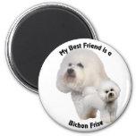 Best Friend Bichon Frise Fridge Magnet