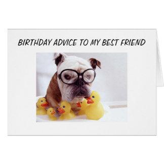 """BEST FRIEND"" BIRTHDAY ADVICE CARD"