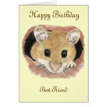 Best Friend Birthday Mouse Greeting Card