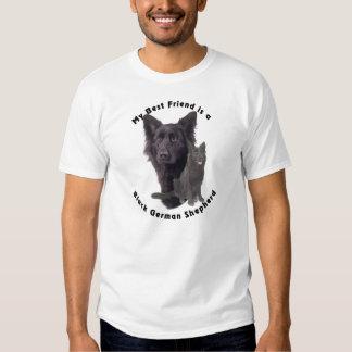 Best Friend Black German Shepherd T Shirt