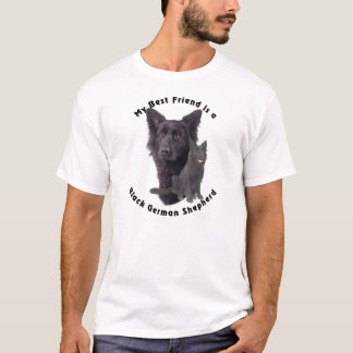 Best Friend Black German Shepherd T-Shirt