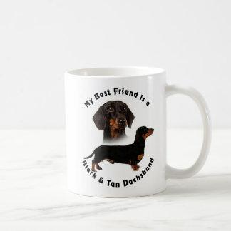 Best Friend Black Tan Dachshund Classic White Coffee Mug