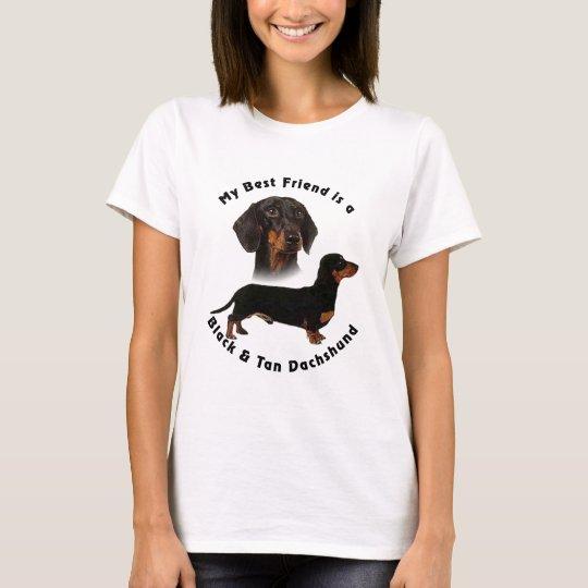 Best Friend Black Tan Dachshund T-Shirt