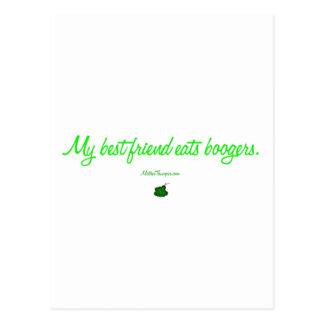 best friend boogers postcard