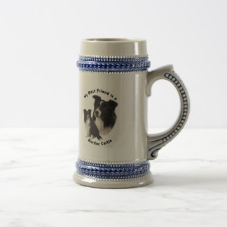 Best Friend Border Collie Beer Stein