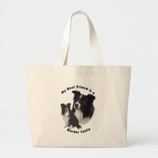 Best Friend Border Collie Canvas Bags