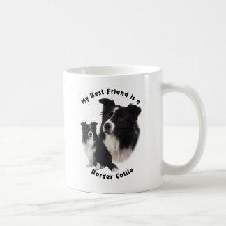 Best Friend Border Collie Classic White Coffee Mug