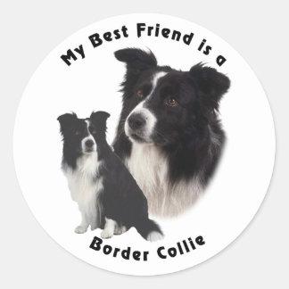 Best Friend Border Collie Classic Round Sticker