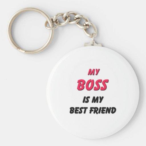 Best Friend Boss Basic Round Button Keychain